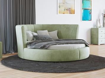 Круглая кровать Luna ткань